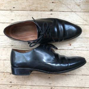 Madewell black lace up oxfords
